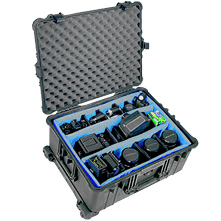 Pelican 1614 Watertight Hard Roller Case with Padded Dividers,