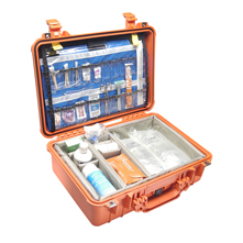Pelican 1500 Watertight Hard Case with EMS Organizer/Dividers, Orange
