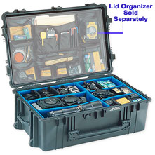 Pelican 1650 Watertight Hard Case with Wheels & Padded Dividers